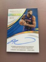 2017-18 Panini - Immaculate Basketball: Andre Drummond On Card Auto /75