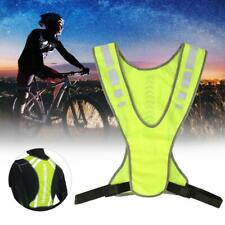 Outdoor Reflective Safety Vest with Light High Visibility for Night Running New