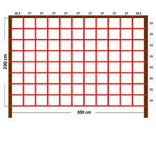 XXL Kletternetz rot 300x200 cm groß Strickleiter für Spielturm Kletterturm Netz