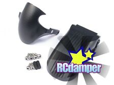 ALUMINUM FENDER FRONT+REAR WHEEL COVER BK KYOSHO 1/8 MOTORCYCLE MOTOR CYCLE NSR