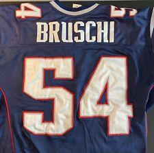 BRUSCHI Patriots Jersey 54 Reebok BLUE vintage sz 50 MENS
