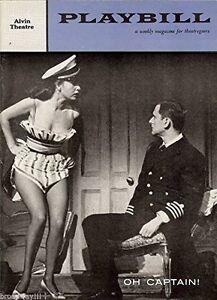 """Tony Randall """"OH CAPTAIN!"""" Abbe Lane / Paul Valentine 1958 Broadway Playbill"""