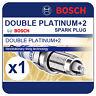 VW Eos 1.4 TSI D4L 158BHP 10-11 BOSCH Double Platinum Spark Plug FR6HI332