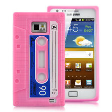 CASE COVER RETRO CASSETTE CASET CASETE SAMSUNG GALAXY S2 S 2 i9100 PINK COLOUR