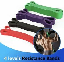 Resistance Bands Heavy Duty Set 4  Pull Up Bands Workout Gym Fitness Exercise