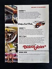 Vintage 1969 Dodge Charger R/T - Coronet R/T - Dart GT Sport Full Page Color Ad