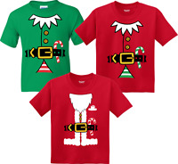 ELF and Santa costume   CHRISTMAS FAMILLY MATCHING SHIRT