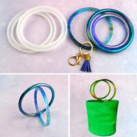 Bracelet Resin Casting Silicone Mold Round Keychain Bag Handle Jewelry Craft DIY