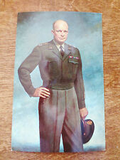 1960s Dwight D. Eisenhower General of the Army Portrait Stephens Postcard Unused