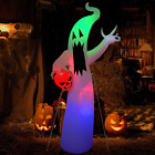 8 Ft Halloween Party Decorations Outdoor Clearance White Ghost Catching Skeleton