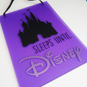 A5 SLEEPS UNTIL DISNEY castle countdown plaque chalkboard can be Personalised!
