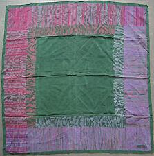foulard en crêpe de soie JEAN PATOU 81 cm x 83 cm VINTAGE