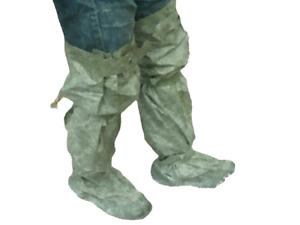 NOS Genuine Polish Army Rubber Overshoes Waders Waterproof Fishing Hazmat CBRN