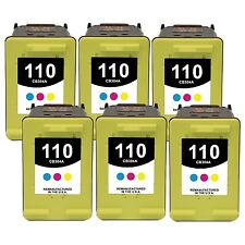 6-PACK  Tri-Color Ink Cartridges for HP PhotoSmart A532 A536 A610 A612 Printer