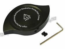 Black Anodized CNC Radiator Cap Protective Cover Black Fit SUBARU MITSUBISHI
