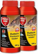Ph Ratten 2x 500g Rodicum Appât Portions Poison Lutte Contre Maison Grenier