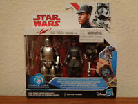"Star Wars Last Jedi Force Link First Order Finn & Captain Phasma 3.75"" 2 pack"
