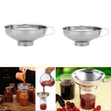 Kitchen Stainless Steel Wide Mouth Canning Hopper Funnel Filter Cooking Tools