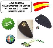 LLAVE FUNDA CARCASA ALFA ROMEO 147 156 166 GT GTA JTD FLIP 3 BOTONES.ESPAÑA