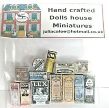 VINTAGE STYLE BATHROOM  ACCESSORIES DOLLS HOUSE MINIATURES