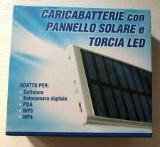 CARICA BATTERIA ENERGIA SOLARE PER PC CELLULARE UNIVERSALE LCD TORCIA LED