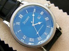 Stauer Urban Blue 44mm High Polished Stainless Steel Watch MUST SEE!!!