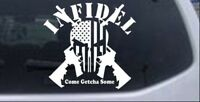 Infidel Punisher Skull American Flag AR15 Car Truck Window Laptop Decal Sticker