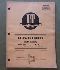 1969 ALLIS CHALMERS D-10 D-12 SERIES III TRACTOR I&T SERVICE REPAIR MANUAL GOOD