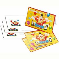 Tib Heyne Einladungskarten Clown A6 Umschläge C6 8