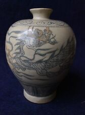 Chinese Yuan Dynasty Blue White Porcelain Dragon Features