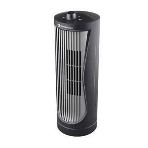 "Comfort Zone CZ112 Quiet 2-Speed 12"" Oscillating Desktop Tower Fan"