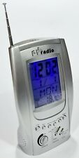 Batterie FM RADIO UHR/THERMOMETER UKW Analog Radio Clock/Wecker/Light Up NEU!