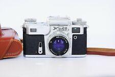 OLD 1978 Kiev-4 Soviet Rangefinder Film Camera Contax Clone w/s JUPITER-8M EXC