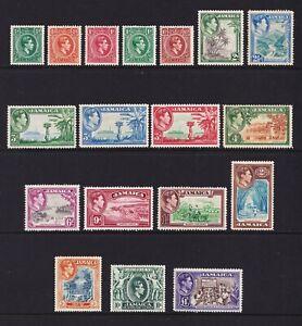 Jamaica 1938-52 GVI ½d - £1, fine mint cv £150