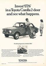 1970 Toyota Corolla 2-door Original Advertisement Car Print Ad J355