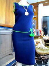 KNITS by CAMELON Vintage 1960s Skirt Suit Sheath Dress Mid Century Mod Sz 0 - 2