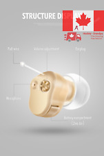 Hearing Aids Super Mini Half Penny Sized In The Canal Ear Sound Amplifier Noi...