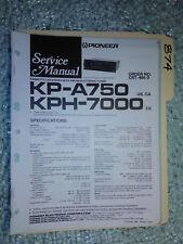 Pioneer kp-a750 kph-7000 service manual original repair book stereo tape car!