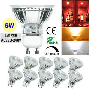10 X 5W GU10 LED Bulbs Spotlight Lamp Dimmable Spotlight Downlight Energy Saving