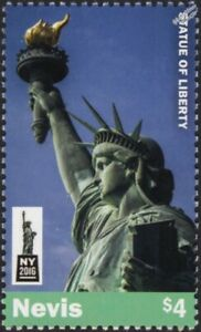 STATUE OF LIBERTY New York City Stamp (2016 Nevis)