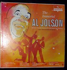 The Immortal Al Jolson Orchestra & Chorus Decca Records DL 9063 Long Play 33 RPM