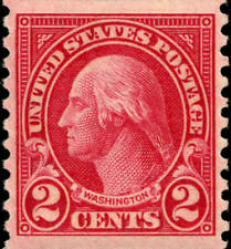 1923 2c George Washington, Coil Scott 599 Mint F/VF LH