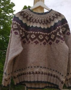 Vintage Weathervane Wool Blend Fair Isle Sweater Women's Large