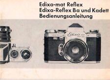 Edixa-mat reflex-REFLEX BA e Kadett-manuale d'uso Fotocamera-b3685