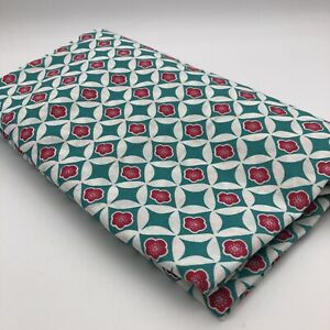 Miss Shanghai 100% Cotton Fitted Sheet Single Size Geometric Tile Pattern Green