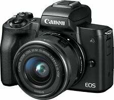 NEW Canon EOS M50 Mirrorless 24.1MP Digital Camera with 15-45mm Lens - Black