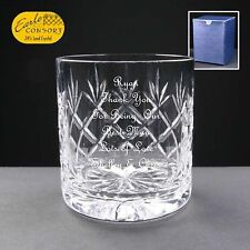 Personalised Cut Crystal Whisky/ Spirit Glass, Best Man Gift