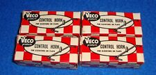 (4) VECO #341 CONTROL HORNS for AILERONS / FLAPS / ELEVATOR New Old Stock