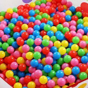 200PC KIDS PLASTIC SOFT PLAY BALLS CHILDREN BALL PITS POOL 5.5CM MULTICOLOURED