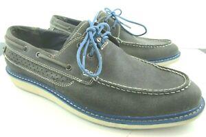 Mark Nason Skechers Gray Leather Boat Shoes Men's Size US 11 - 68052